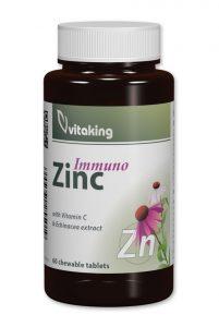 Vitaking Cink Immuno Rágotabletta