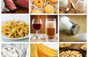 gyulladást okozó ételek