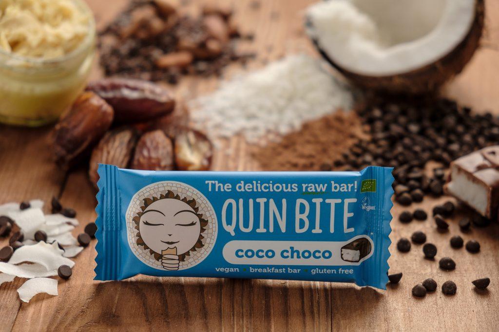 Bio Quin Bite nyers szelet – Kókusz –Kakaó