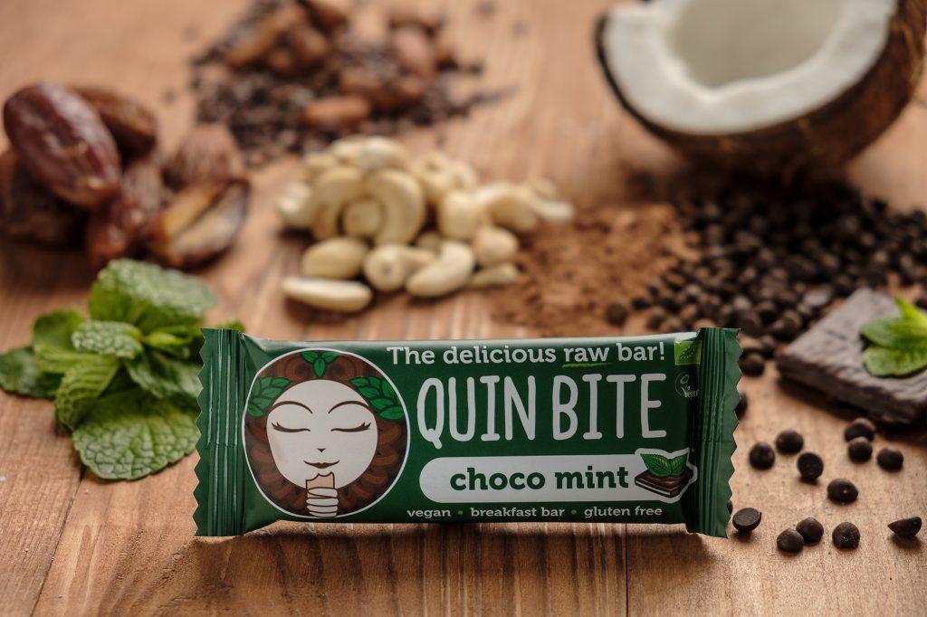 Bio Quin Bite nyers szelet – Csokoládé- Menta