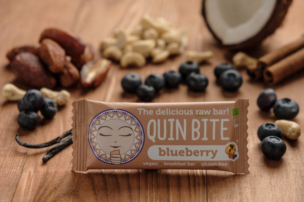 Bio Quin Bite nyers szelet – Áfonyás