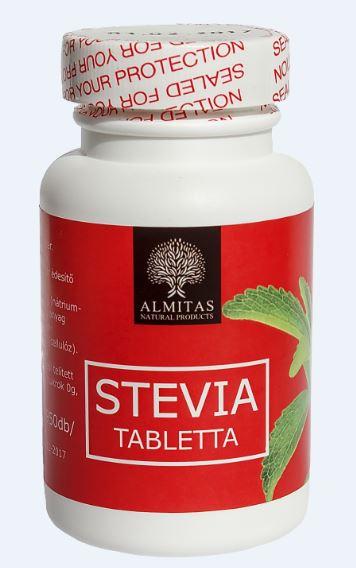 Almitas Stevia tabletta 60g min 950db