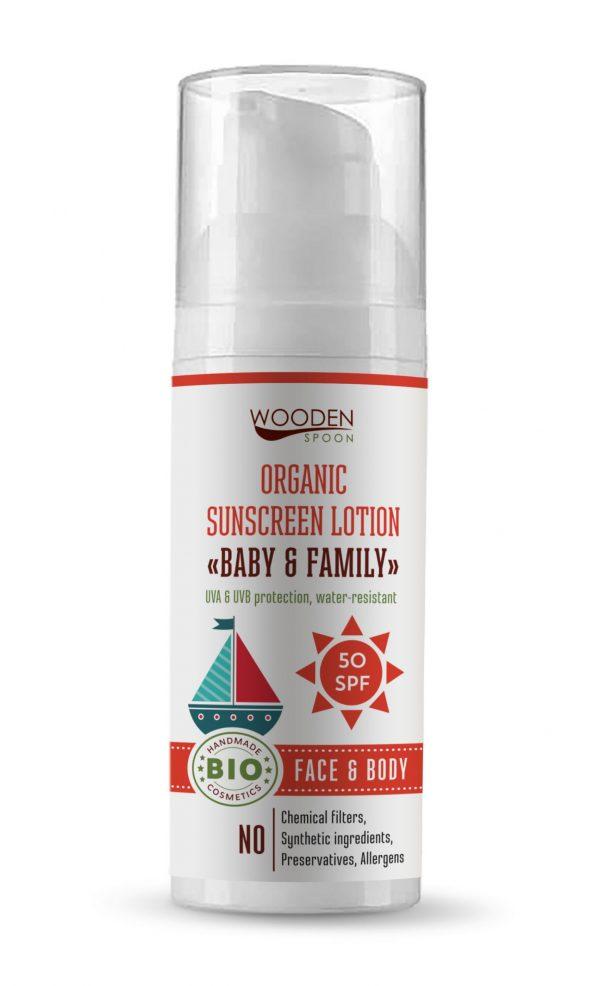 Wooden Spoon Bio naptej és testápoló SPF 50