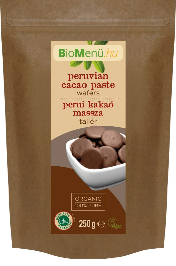 BioMenü BIO perui KAKAÓ MASSZA tallér (250 gr)
