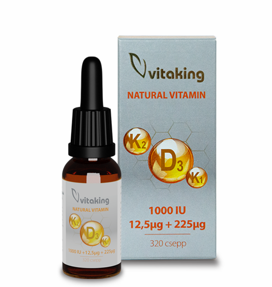D3+K2+K1 vitamin csepp 10 ml (160 adag)